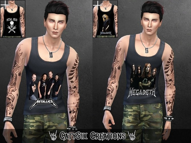 Metal Tank Tops V1 at CatySix image 1359 670x502 Sims 4 Updates