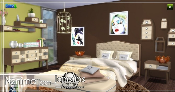 Nenima bedroom at Jomsims Creations image 1361 670x355 Sims 4 Updates
