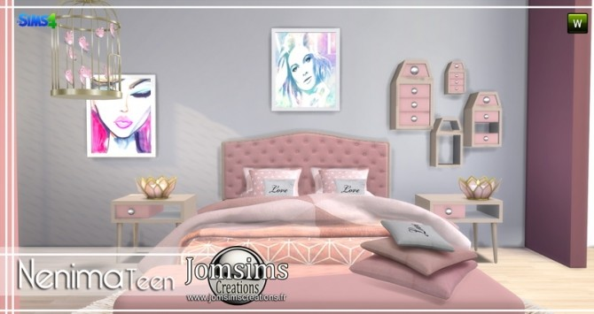 Nenima bedroom at Jomsims Creations image 1371 670x355 Sims 4 Updates
