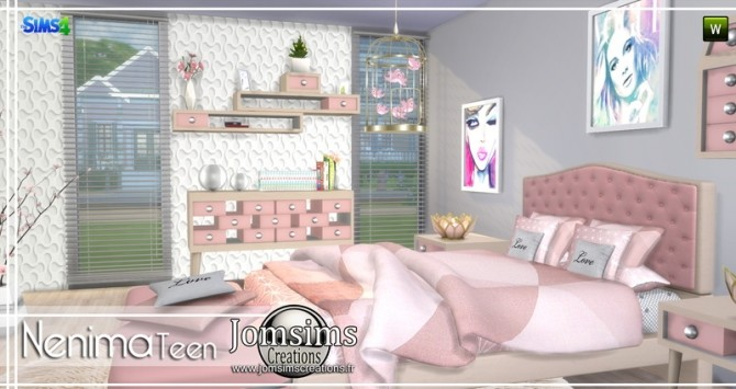 Nenima bedroom at Jomsims Creations image 1381 670x355 Sims 4 Updates