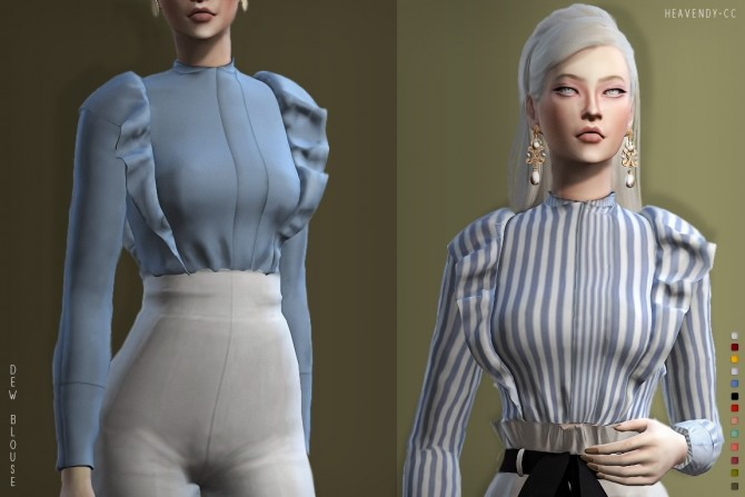 Dew Blouse At Heavendy Cc 187 Sims 4 Updates