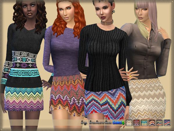 Sims 4 Designer skirt by bukovka at TSR