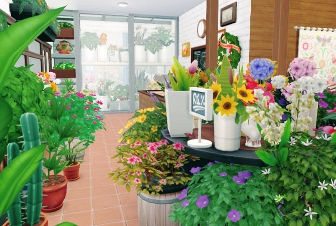 Flower Shop & house at Imadako image 1393 670x452 Sims 4 Updates