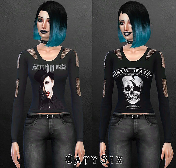 Sims 4 Five Tops Misc at CatySix