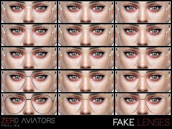 ZER0 Aviator sunglasses by Pralinesims at TSR image 14 Sims 4 Updates