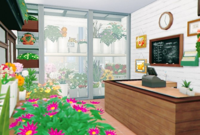 Flower Shop & house at Imadako image 1403 670x452 Sims 4 Updates