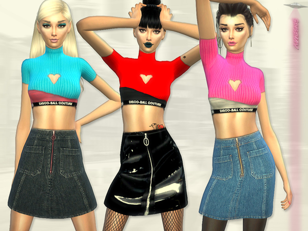 Sims 4 Discoball Couture Streetstyle Outfit by Simsimay at TSR