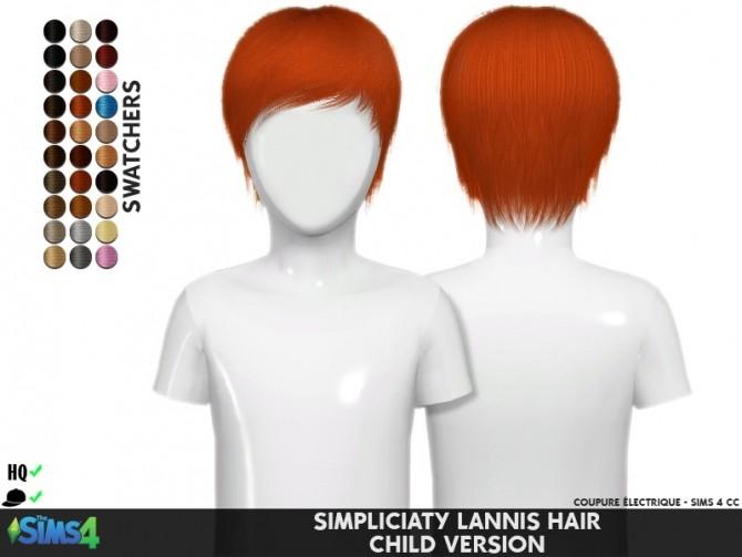 Sims 4 SIMPLICIATY LANNIS HAIR T+C at REDHEADSIMS