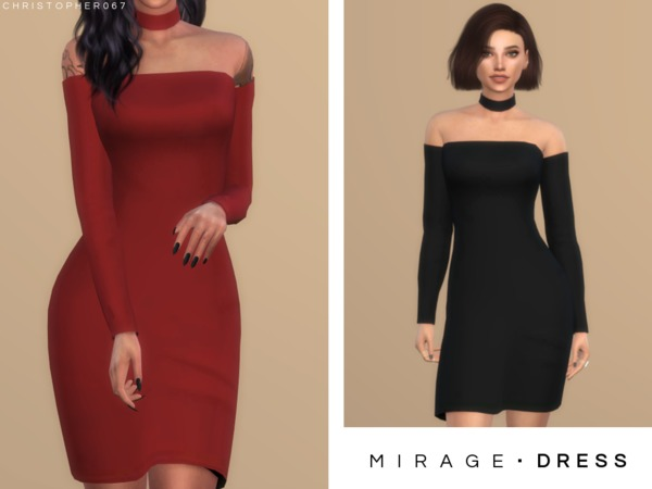 Mirage Dress by Christopher067 at TSR image 1430 Sims 4 Updates