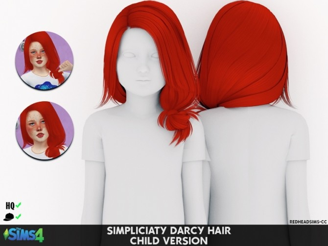 Simpliciaty Darcy Hair T C At Redheadsims Coupure