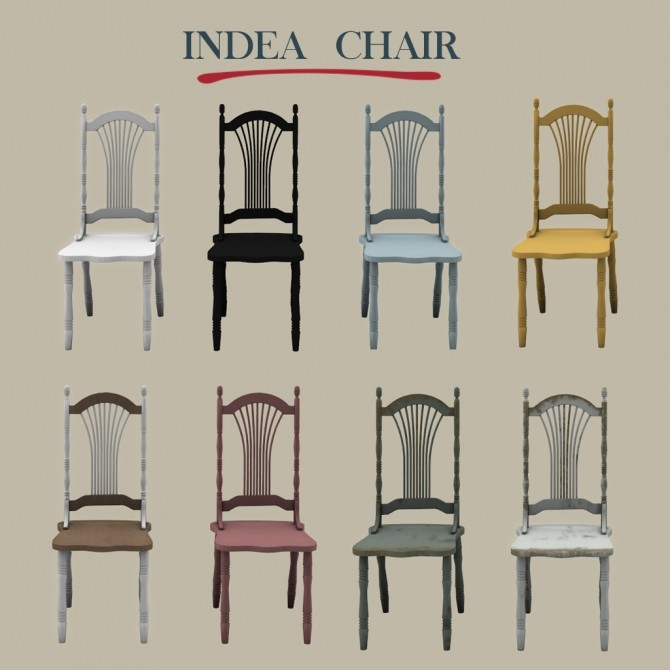 Sims 4 Indea Chair at Leo Sims