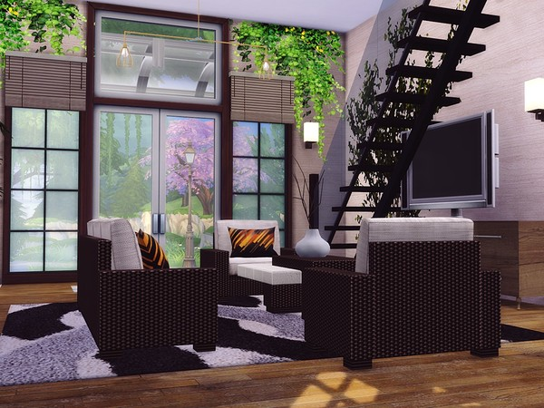Contemporary Townhouse by MychQQQ at TSR image 1450 Sims 4 Updates