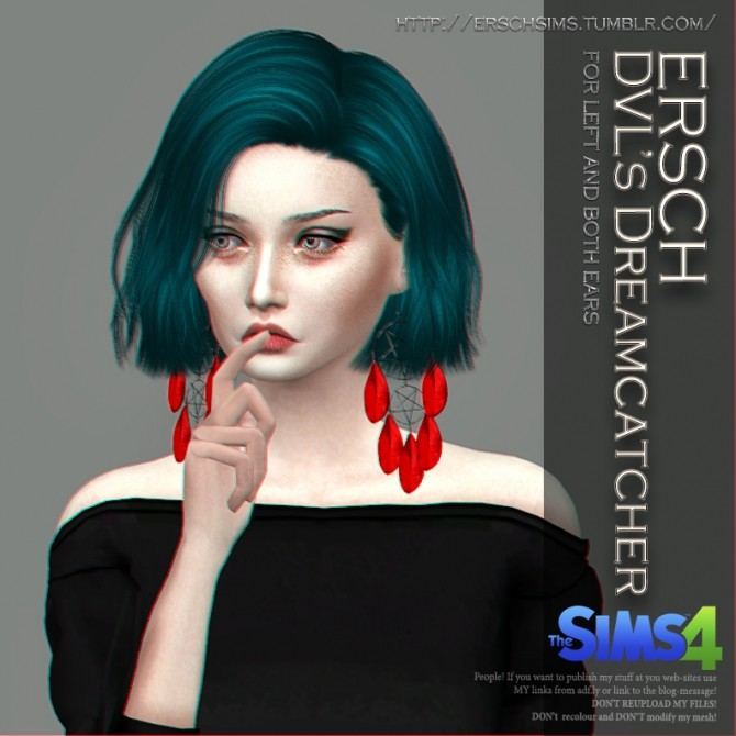 DVLs Dreamcatcher Earrings at ErSch Sims image 1453 670x670 Sims 4 Updates