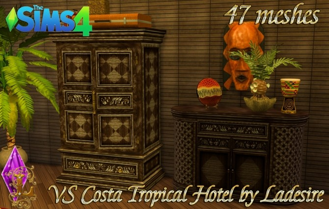 VitaSims Costa Tropical Hotel 47 meshes at Ladesire image 14610 670x427 Sims 4 Updates