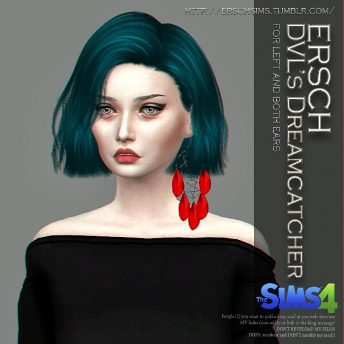 DVLs Dreamcatcher Earrings at ErSch Sims image 1463 670x670 Sims 4 Updates
