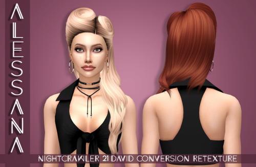 Sims 4 Nightcrawler 21 David Conversion Hair Retexture at Alessana Sims