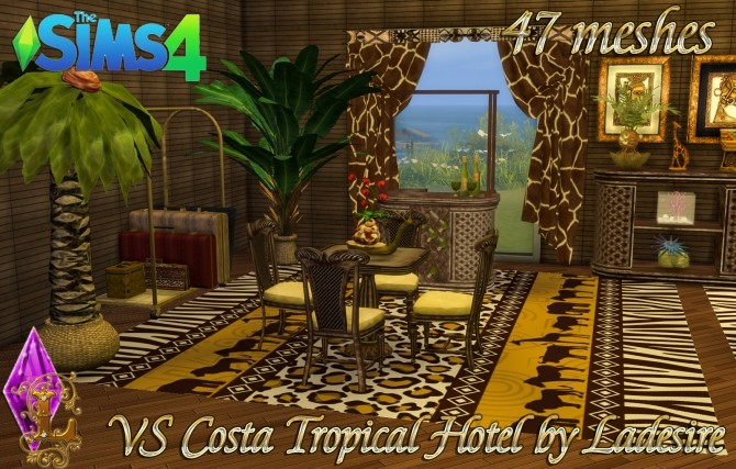 Sims 4 VitaSims Costa Tropical Hotel 47 meshes at Ladesire