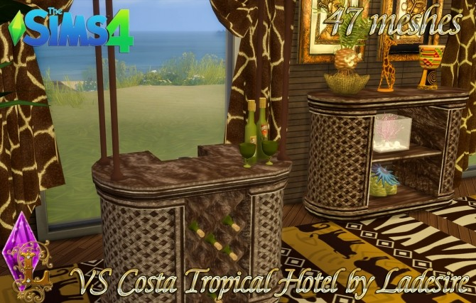 VitaSims Costa Tropical Hotel 47 meshes at Ladesire image 1499 670x427 Sims 4 Updates