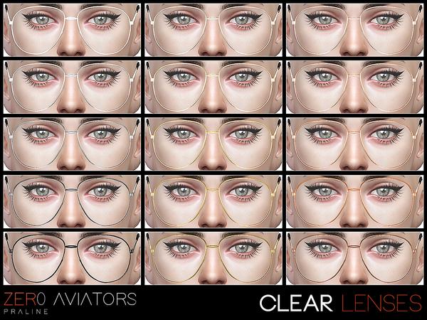 ZER0 Aviator sunglasses by Pralinesims at TSR image 15 Sims 4 Updates
