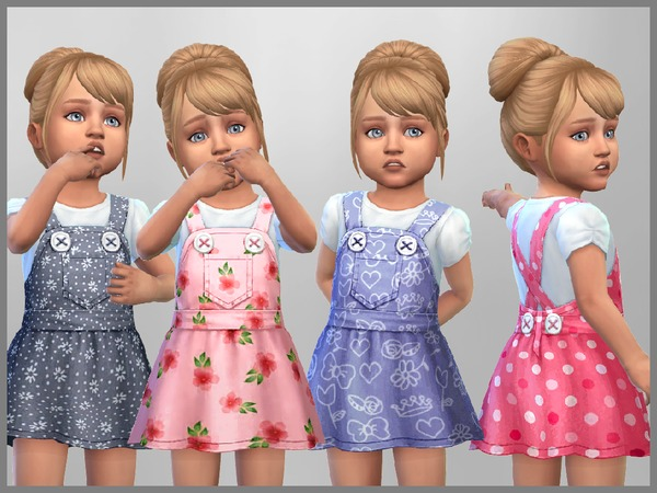 Sims 4 Lucy Toddler Dress by SweetDreamsZzzzz at TSR