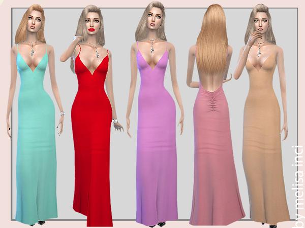 Backless Maxi Dress by melisa inci at TSR image 1527 Sims 4 Updates