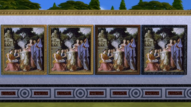 Sims 4 Queens Guard Room Paintings Set by TheJim07 at Mod The Sims
