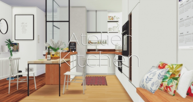 Atelier Kitchen At Pyszny Design 187 Sims 4 Updates