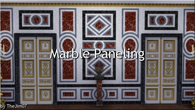 Sims 4 Marble Paneling by TheJim07 at Mod The Sims