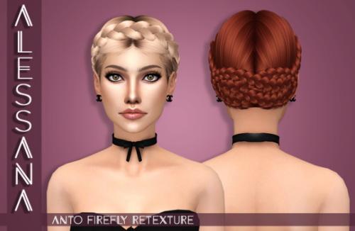 Sims 4 Anto Firefly Hair Retexture at Alessana Sims