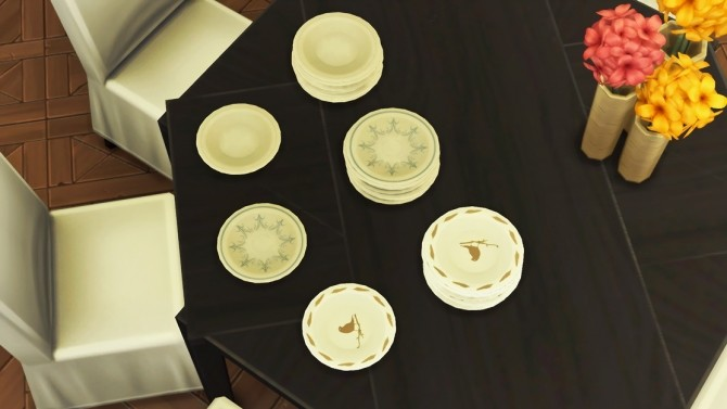 Sims 4 WROEF Dining Plate and Plate Stack at Josie Simblr