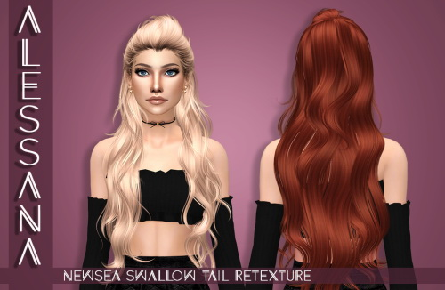 Sims 4 NewSea Swallow Tail Hair Retexture at Alessana Sims