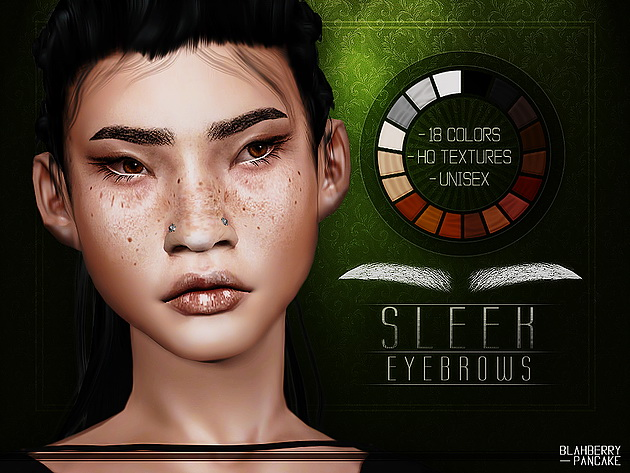 Sleek Eyebrows at Blahberry Pancake image 1568 Sims 4 Updates
