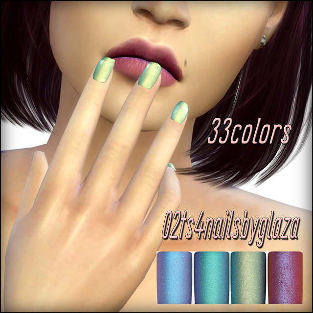 Nails #02 at All by Glaza image 1572 Sims 4 Updates