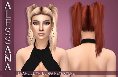 Sims 4 LeahLillith Bling Hair Retexture at Alessana Sims
