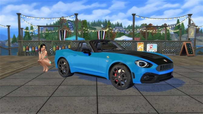 Abarth 124 Spider at LorySims image 1585 670x377 Sims 4 Updates