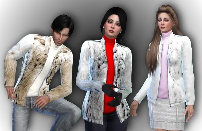 Sims 4 Fur Jacket at Alial Sim