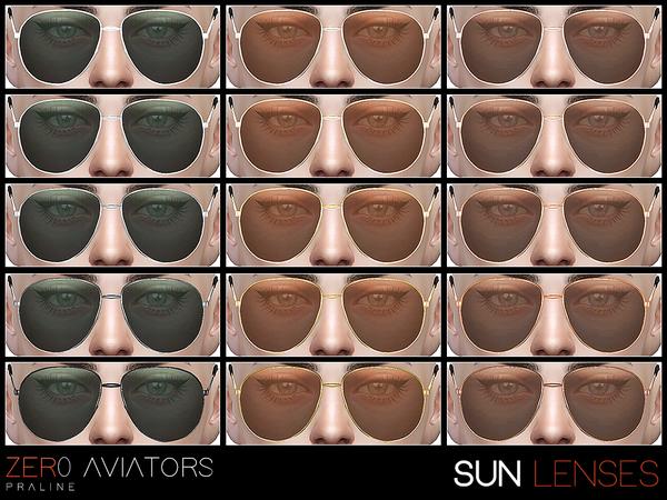 ZER0 Aviator sunglasses by Pralinesims at TSR image 16 Sims 4 Updates