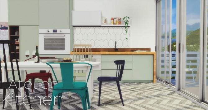 Sims 4 Atelier Kitchen at Pyszny Design