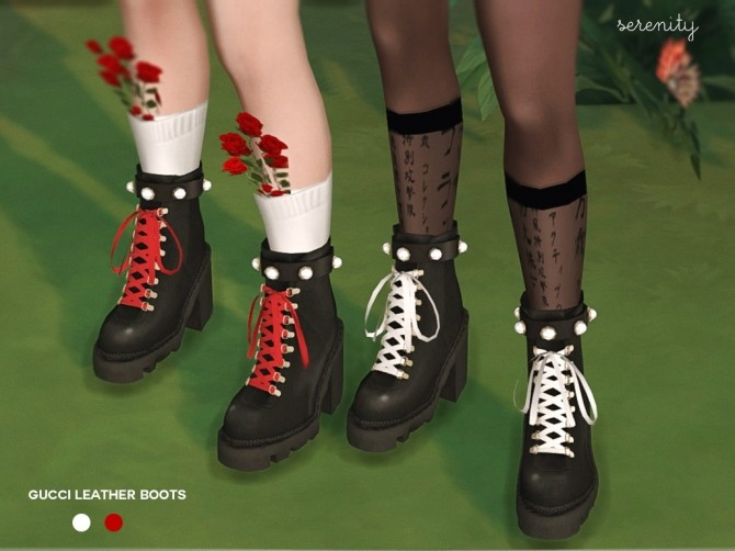 Sims 4 Leather Boots at SERENITY