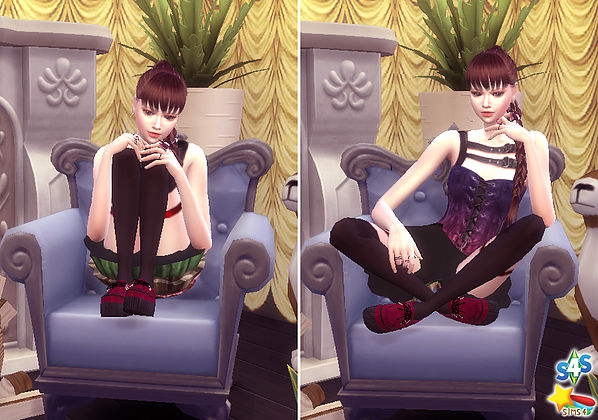 Combination Pose 23 (sofa) at A luckyday image 1612 Sims 4 Updates