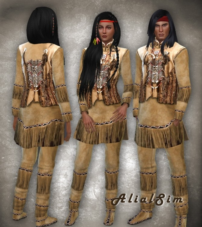 Native Americans Outfit at Alial Sim image 1635 670x755 Sims 4 Updates