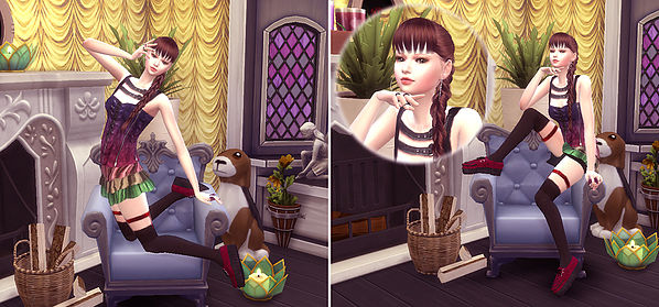 Combination Pose 23 (sofa) at A luckyday image 1641 Sims 4 Updates