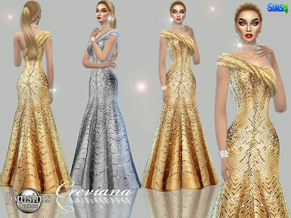 Sims 4 Creviana dress by jomsims at TSR