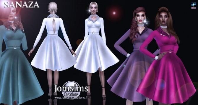 Sims 4 Sanaza dress at Jomsims Creations