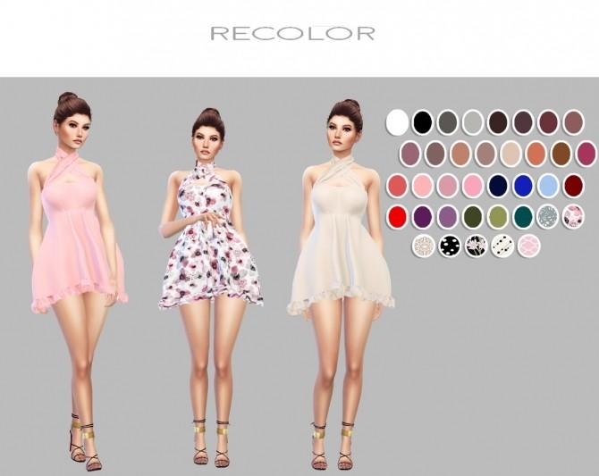 X Mini Dress recolors at Simply Simming image 1659 670x533 Sims 4 Updates