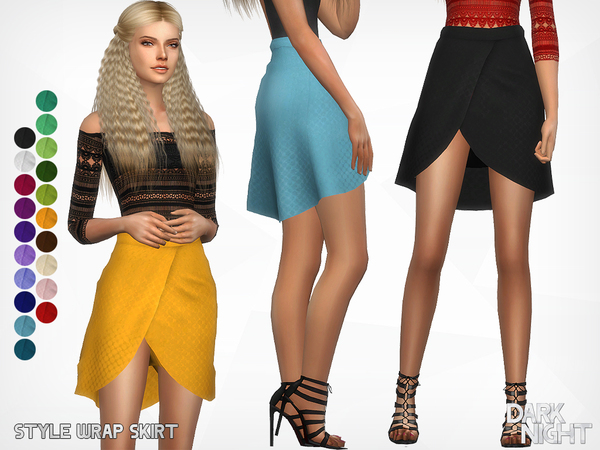 Sims 4 Style Wrap Skirt by DarkNighTt at TSR