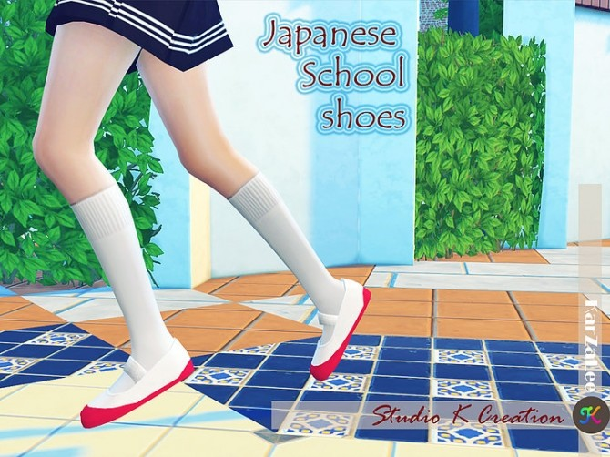 Japanese School Shoes at Studio K Creation image 1672 670x502 Sims 4 Updates