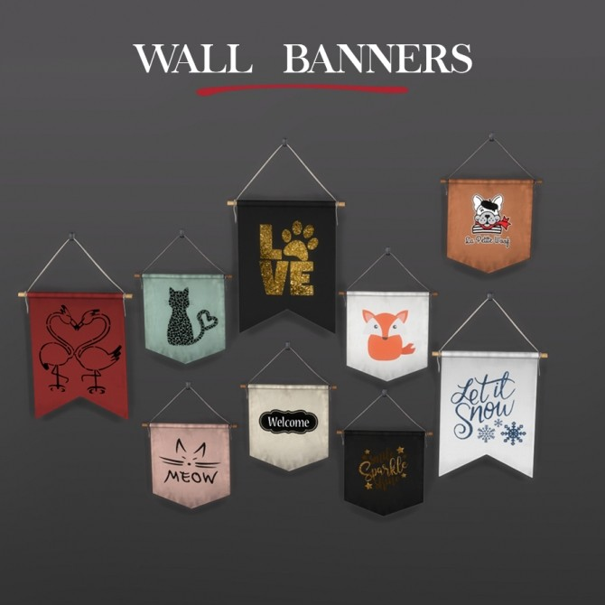 Sims 4 Wall Banners at Leo Sims