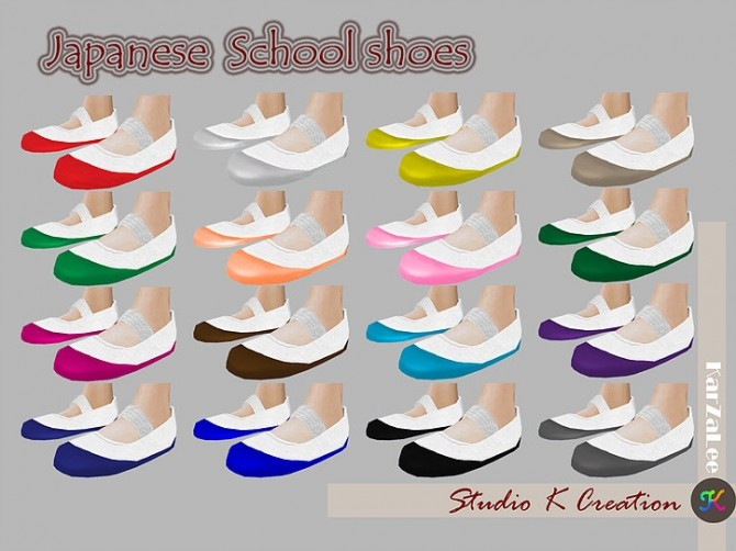 Japanese School Shoes at Studio K Creation image 1682 670x502 Sims 4 Updates