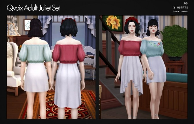 Sims 4 Juliet Set at qvoix – escaping reality